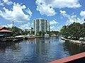 Crossing The Florida East Coast Railway Drawbridge On Brightline (27459056897).jpg