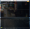 Customized vim with opened directory..tiff