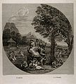 Cybele, Bacchus, Ceres and Flora on a chariot drawn by lions Wellcome V0017045.jpg