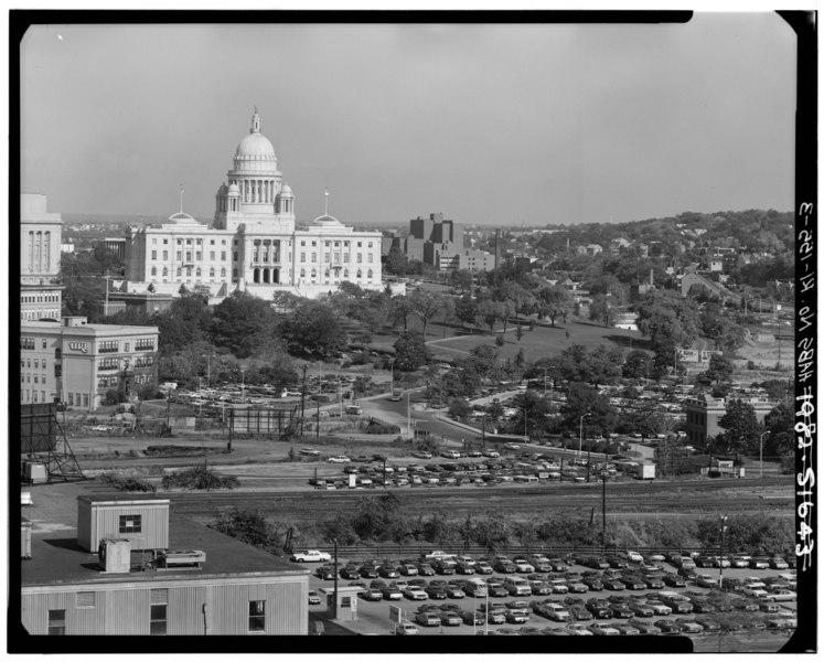 File:DISTANT VIEW FROM SOUTHWEST - Rhode Island State House, 90 Smith Street, Providence, Providence County, RI HABS RI,4-PROV,180-3.tif