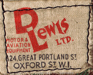 Lewis Leathers - D. Lewis of Great Portland Street