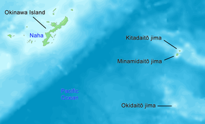 Daitō Islands - Map of the Daitō Islands