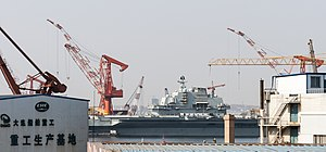 Chinese aircraft carrier Liaoning - Liaoning  at Dalian, China