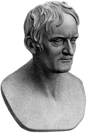 John Dalton - Bust of Dalton by Chantrey, 1854
