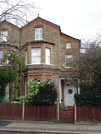 Margaret Rutherford's early home, her aunt Bessie's house in Wimbledon, 1895-1920 Dame MARGARET RUTHERFORD - 4 Berkeley Place Wimbledon London SW19 4NN.jpg
