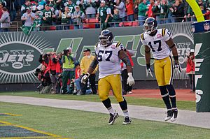 Braylon Edwards - Edwards celebrating a touchdown with teammate Damien Woody