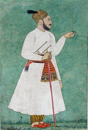 Kahlur - Dan Chand, prince of Bilaspur. Last quarter of the 18th century.