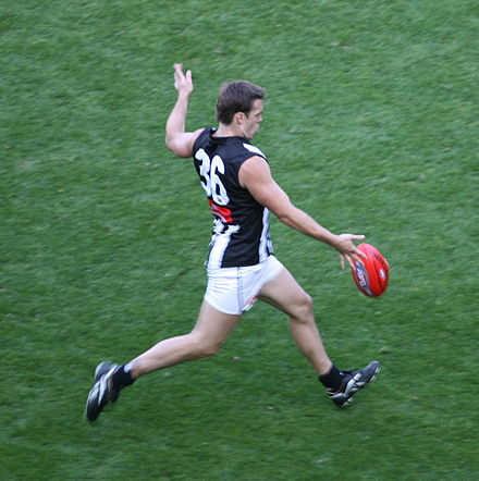 Leigh Matthews Trophy-winner Dane Swan from Collingwood, the pre-match favourite to win the Norm Smith Medal. Dane Swan 2008.jpg