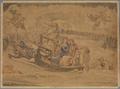 Dante, im fünften Kreis der Hölle, fährt mit Virgil über den Sumpf, in welchem die Zornmütigen ihre Strafe finden (SM 942e).png