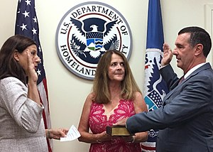 David Pekoske - Administrator David Pekoske being ceremonially sworn in at DHS headquarters by Acting Secretary Elaine Duke.