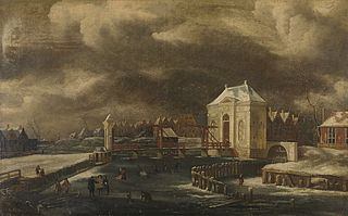 The Heiligewegspoort in Amsterdam in Winter