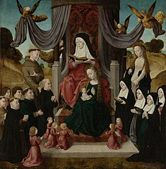 The Virgin and Child with St Anne, donors and Sts Francis and Lidwina