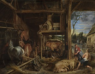 Parable of the Prodigal Son - The Prodigal Son, a 1618 painting by Rubens of the son as a swineherd.