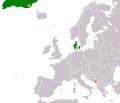 Denmark Montenegro Locator.png