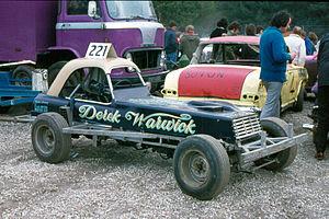 Derek Warwick - Derek Warick's Superstox car, Matchams Park, 1973