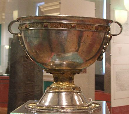 Derrynaflan Chalice, an 8th- or 9th-century chalice, found in County Tipperary, Ireland Derrynaflan chalice.jpg