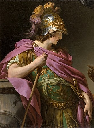 Theramenes - Alcibiades, shown here in this detail of a 1776 painting by François-André Vincent, incited the oligarchic coup by promising Persian support to Athens if the democracy was overthrown.