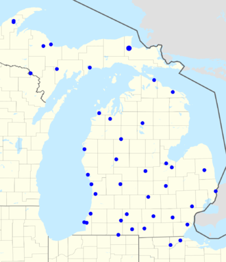 Detroit Lions Radio Network - Map of radio affiliates.