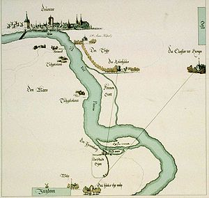 IJssel - The IJssel at Deventer in 1567