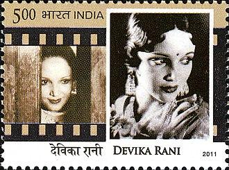 Devika Rani - Rani on a 2011 stamp of India