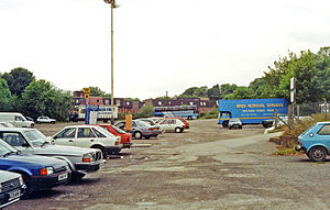 Devizes railway station - Site of the station in 1991
