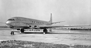 Jet Age - The de Havilland Comet was the first commercial jet airliner and began service on 9 January 1951.