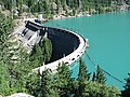 Diablo Dam with it's emerald green lake along Highway 20, 2010 (33708415050).jpg