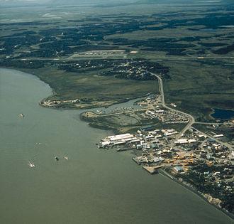 Dillingham, Alaska - Aerial view of Dillingham