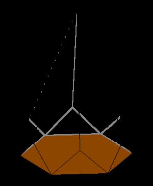 Diminished trapezohedron - Image: Diminished hexagonal trapezohedron