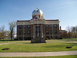 The Divide County Courthouse in Crosby
