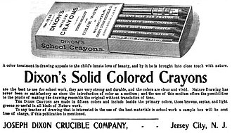 Crayon - Early Dixon crayon ad from Aug 1901