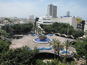 English: Dizengoff square, Tel-Aviv, Israel. F...