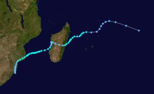 Tropical Storm Domoina - Image: Domoina 1984 track