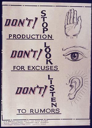 Don't Stop Production. Don't look for Excuses....