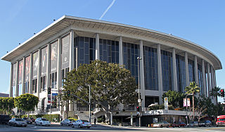 Dorothy Chandler Pavilion Opera house in Los Angeles, California, part of the Los Angeles Music Center, used by LA Opera