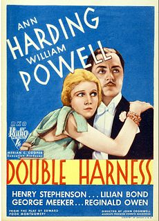 <i>Double Harness</i> 1933 film by John Cromwell