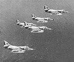 Douglas A-4C Skyhawks of VA-66 in flight, 1964.jpg