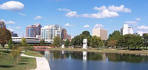 View of downtown Huntsville, Alabama from Big ...