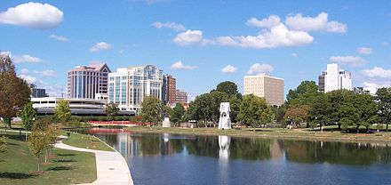 Huntsville, third-largest city and second-largest metropolitan area Downtown Huntsville, Alabama cropped.jpg