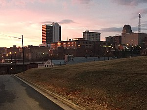 Lynchburg, Virginia - Downtown Lynchburg from Daniel's Hill at Point of Honor