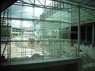 Drake Circus Shopping Centre - Image: Drake Circus Shopping Centre construction 1