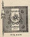 Drapeau de l'Orphéon de Cambrai en 1911.jpg