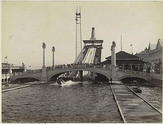 Shoot the Chute - Chute-the-Chutes, Dreamland, Coney Island, NY, 1905