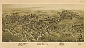 DuBois, Pennsylvania - 1895 bird's-eye view of DuBois