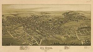 DuBois, Pennsylvania - 1895 bird's-eye view of DuBois