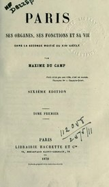Du Camp - Paris, tome 1.djvu
