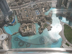 WET (company) - Overhead view of The Dubai Fountain.