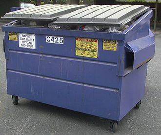 Dumpster - Dumpster awaiting pick-up