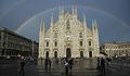 Duomo (Milan) with rainbow.jpg