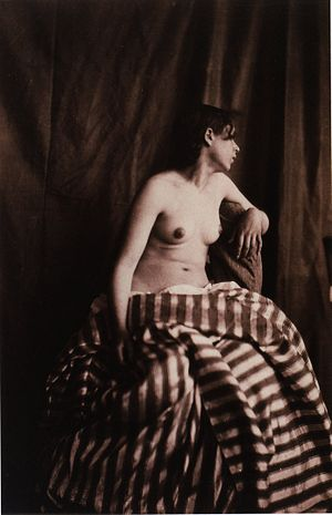Jean Louis Marie Eugène Durieu - Nude by Durieu